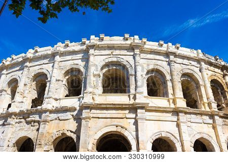 The Arena Of Nimes (circa 100 A.d.) Is A Roman Amphitheatre, Situated In Nimes, Southern France