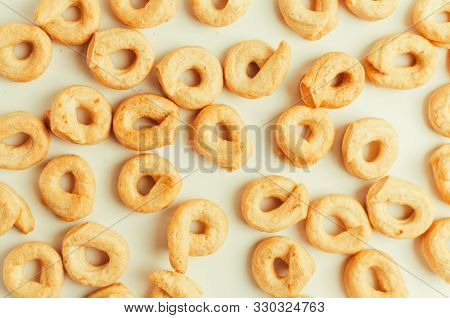 Taralli - A Traditional Italian Snack Similar To Drying Or Bagels, Typical For The Cuisine Of Sicily