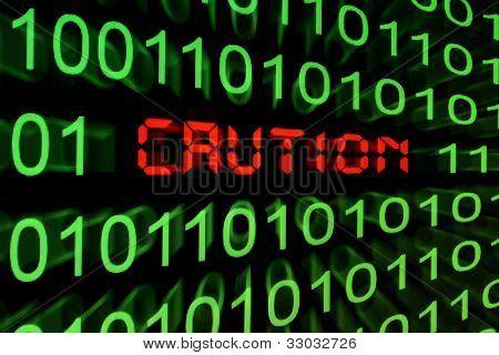 Caution - Monitor Screen