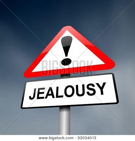 Jealousy Concept.