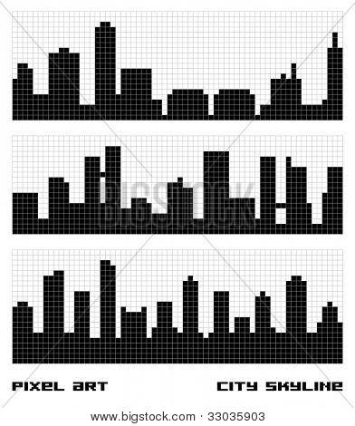 Pixel Art City Skyline