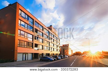 Modern Residential Apartment Flat Building Exterior And Outdoor