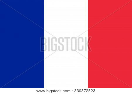 France Flag Nationalism With Three Colors Red White And Blue