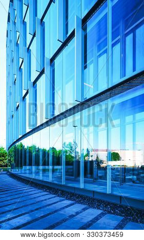 Glass Business Office Building Architecture In Modern City