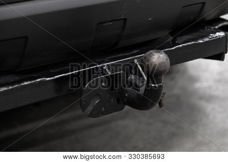 Novosibirsk, Russia - September 18, 2019:  Chevrolet Captiva,  Close Up If The Car Tow Hitch