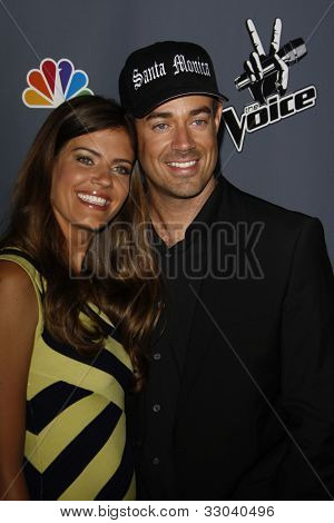 LOS ANGELES - JUNE 29: Carson Daly; Siri Pinter at the 'The Voice' Live Finale After Party at the Avalon Hollywood on June 29, 2011 in Los Angeles, California