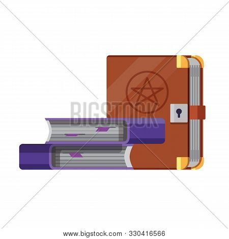 Witchery And Occult Spell Books Flat Icon