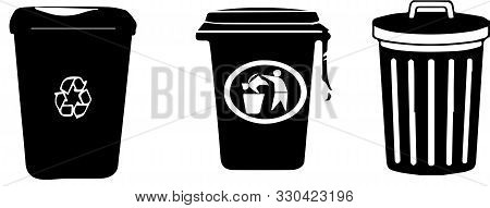 Recycle Bin Icon On White Background  Segregate, Separation, Sign