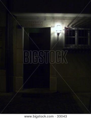 House Entrance At Night