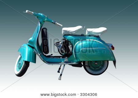 Vintage Vespa Scooter (Path Included)