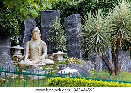 Gautama Buddha Statue In Medetative State. Bodhisattva Concept