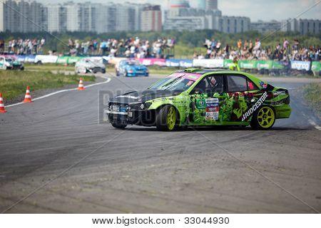 MOSCOW - JUNE 11: Racing car of E.Kharitonov on the track of Moscow racetrack MegaFon Tushino Ring  at Megafon mitjet race, June 11, 2011, Moscow, Russia.