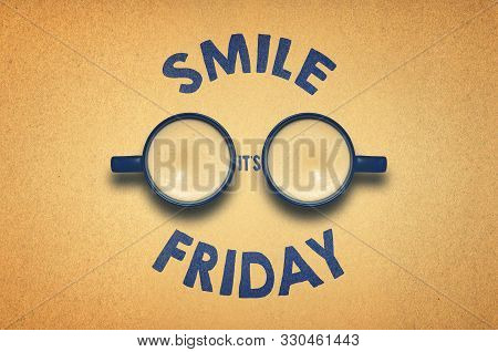 Smile It's Friday - Weekend Is Coming Background With Funny Face