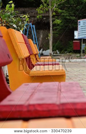 There Are Outdoor Lounge Chair Backrest Shelf Aluminum Pedestal Base Wood Benches Garden Chairs Cour