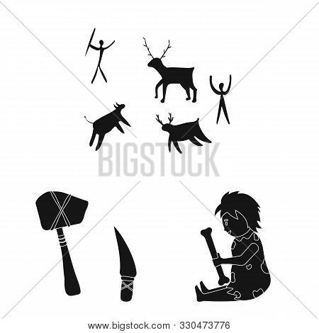 Vector Design Of Survival And Primeval Icon. Collection Of Survival And Stone Stock Vector Illustrat