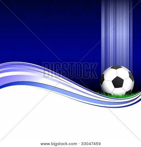 Blue football poster