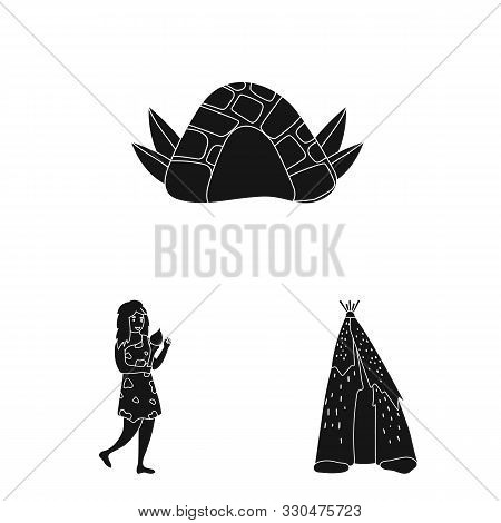 Isolated Object Of Survival And Primeval Icon. Set Of Survival And Stone Stock Vector Illustration.