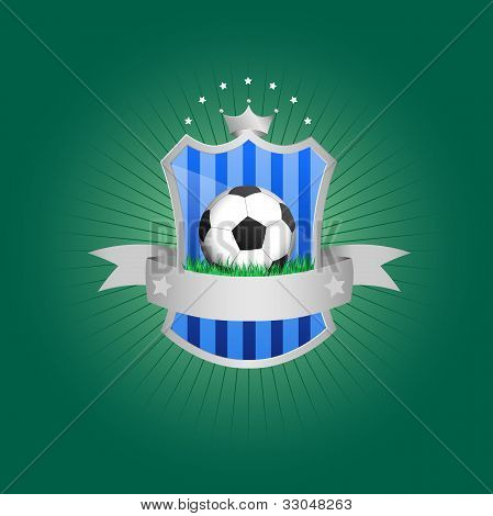 Green and blue soccer badge