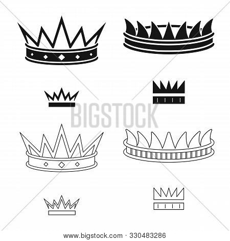 Vector Illustration Of Medieval And Nobility Icon. Set Of Medieval And Monarchy Vector Icon For Stoc