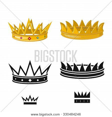 Vector Illustration Of Medieval And Nobility Icon. Collection Of Medieval And Monarchy Stock Vector