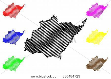 North Governorate (lebanese Republic, Governorates Of Lebanon) Map Vector Illustration, Scribble Ske