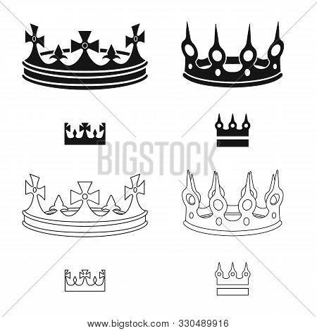 Vector Illustration Of Medieval And Nobility Icon. Collection Of Medieval And Monarchy Vector Icon F