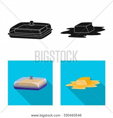 Vector Design Of Creamy And Product Logo. Set Of Creamy And Farm Stock Symbol For Web.