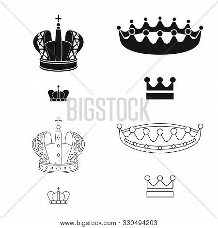 Isolated Object Of Medieval And Nobility Symbol. Set Of Medieval And Monarchy Stock Vector Illustrat