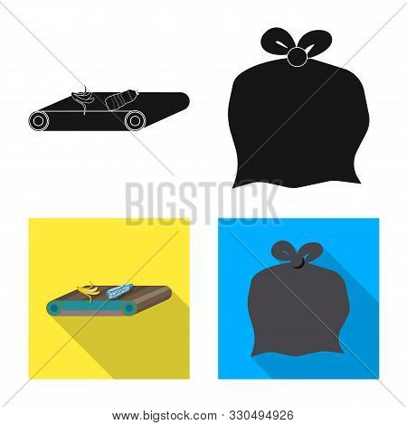 Vector Illustration Of Refuse And Junk Sign. Collection Of Refuse And Waste Stock Vector Illustratio