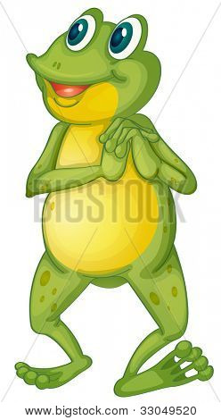 Illustration of a frog cartoon character - EPS VECTOR format also available in my portfolio.