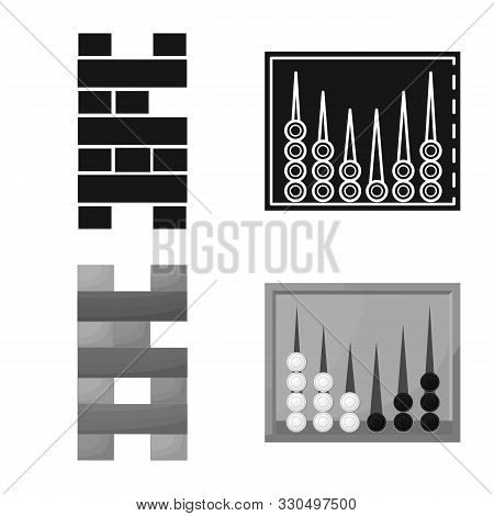 Vector Design Of Entertainment And Competition Icon. Collection Of Entertainment And Rivalry Stock S
