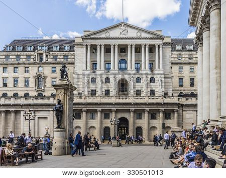 London. May 21 2019. The Bank Of England Building At Bank Junction In The City Of London In London