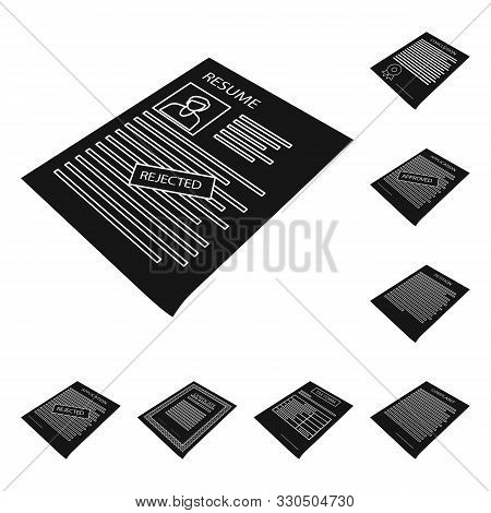 Vector Design Of Publishing And Placard Logo. Set Of Publishing And Stationery Stock Symbol For Web.