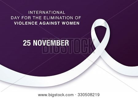 25 November International Day For The Elimination Of Violence Against Women. Vector Banner With Text