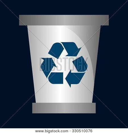 Recycling Bin Icon In Two Color Design Style. Recycling Bin Vector Icon Modern And Trendy Flat Symbo