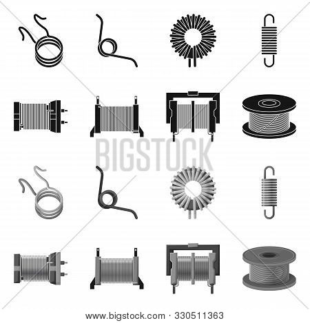 Vector Design Of Compression And Torsion Sign. Collection Of Compression And Technology Stock Vector