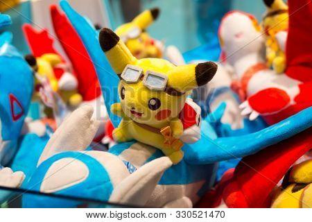 Flying Pikachu In Pokemon Store, Kyoto, Japan, 3 August 2019