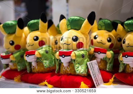 Dressed Up Pikachuin Pokemon Store, Kyoto, Japan, 3 August 2019