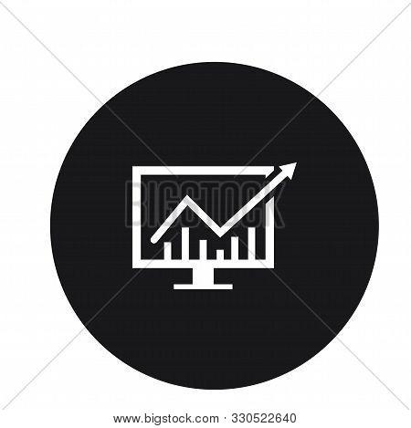 Pc Graph Growth Statistics Icon Design For Web
