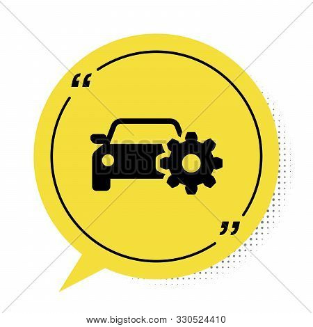 Black Car Service Icon Isolated On White Background. Auto Mechanic Service. Mechanic Service. Repair