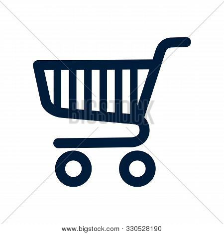 Shopping Cart Icon Isolated On White Background From Miscellaneous Collection. Shopping Cart Icon Tr