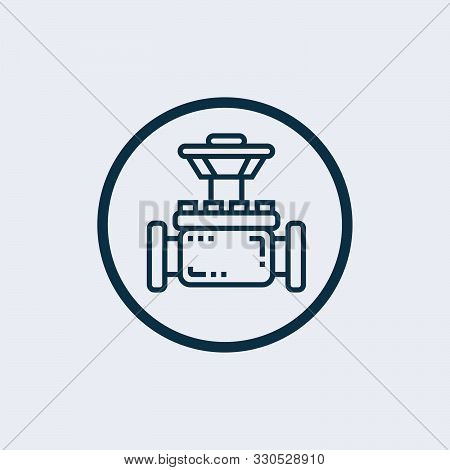 Petrol Pipe Icon In Two Color Design Style. Petrol Pipe Vector Icon Modern And Trendy Flat Symbol Fo