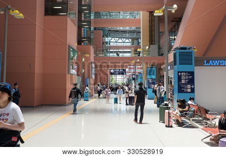 Osaka, View Of Inside The Airport During G20, Japan, 24 June 2019