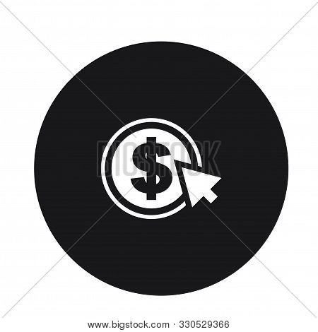 Dollar Coin With Mouse Pinter Icon Design For Web
