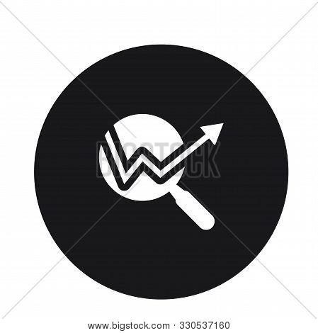 Magnifying Glass Icon Vector Illustration For Web
