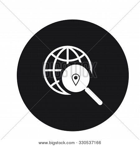Globe Internet Search Icon Vector Illustration For Web
