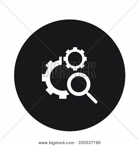 Maintenance Search Icon Vector Illustration For Web