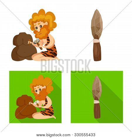 Vector Design Of Evolution And Prehistory Symbol. Set Of Evolution And Development Vector Icon For S