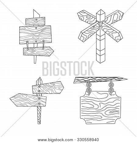 Vector Design Of Hardwood And Material Symbol. Set Of Hardwood And Wood Vector Icon For Stock.