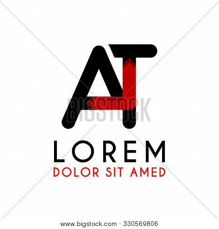 At Letter Black Logo With Gradient Arrow